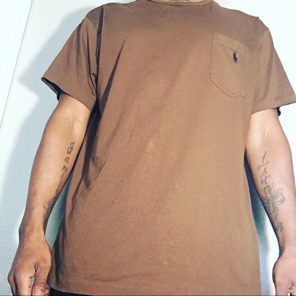 POLO RALPH LAUREN Mens T-SHIRT Color Brown